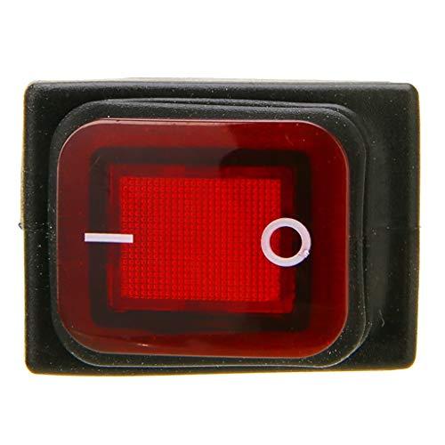 #N/a 12V 4 Pin Coche Auto Luz Antiniebla Interruptor Basculante Interruptor de Palanca LED Rojo Ventas Del Tablero