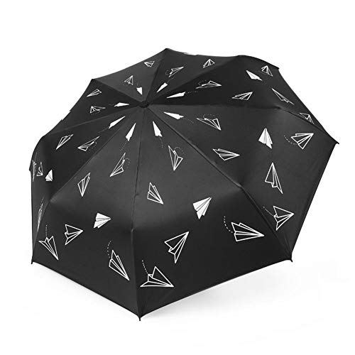 NFRADFM Paraguas, paraguas impermeable 3plegable, para hombres, mujeres, ligero, soleado y lluvioso, paraguas portátil
