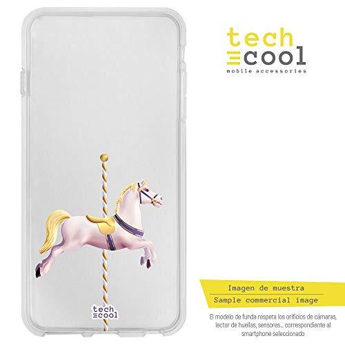 Funnytech® siliconen beschermhoes voor Xiaomi Mi5S [siliconengel, flexibel, exclusief design] Tiovive paard transparante achtergrond