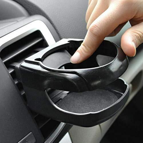 Portavasos Coche 8,5 * 9,5 * 5,5 cm Negro auto del coche Salida de aire montaje de la salida bebida taza de la botella de agua del sostenedor del estante de Can 505 (Color : Black)