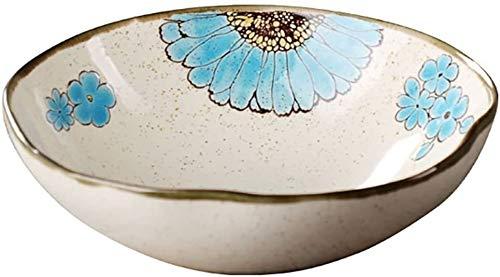 XUEXIU Porcelana Premium Utensilios De Cocina De Cerámica Sopa De Vajilla Plato De Arroz Tazón De Hogares del Cuenco De Arroz Postre Tazón for Catering and Home (Color : Light Blue)