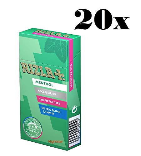 Rizla Filtre tips Menthol 20x120 (2400 filter) ultra slim 5,7mm