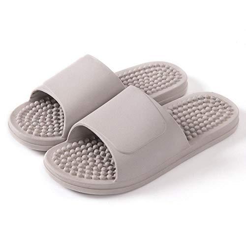 WENHUA Sandalias de Punta Descubierta, Zapatillas de Masaje de pedicura acupuntura, Patines Suaves sin Fondo-Gris_40-41, Mujeres/Hombres Zapatilla de Baño Zapatos