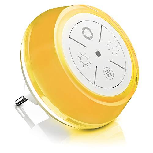 Bearware - Luce di orientamento LED - Luce notturna - 5 Colori RGB e Bianco e 4 pulsanti Touch - Regolazione luminositá - Dimmerabile - Sensore crepuscolare - A e
