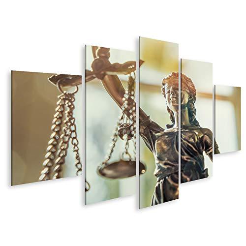bilderfelix Cuadro Lienzo La Estatua de la Justicia - la Dama de la Justicia o Iustitia/Justitia la Diosa Romana de la Justicia Impresión Lienzo Formato Grande Cuadros Modernos TLQ