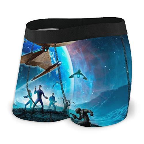 Star Trek Herren-Boxershorts, bequeme Polyesterfaser, bedruckt, modisch, Größe L, Schwarz