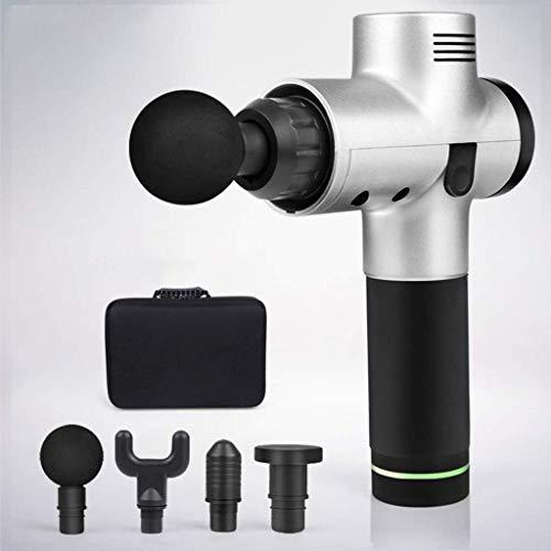AMQDM Tragbare Massagepistole Handheld Percussion Massager Für Triggerpunkte Und Muscle Recover-Silber, Silber