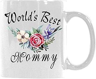 Citations florales tasse meilleure maman tasse à café du monde tasse de thé meilleure idée cadeau pour maman/petite amie/e...