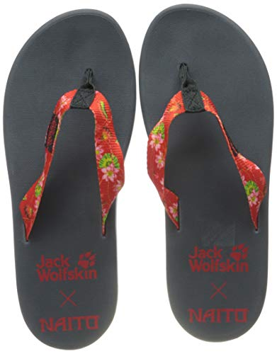 Jack Wolfskin Damen BEACHSTER W Flipflop, tulip red all over, 35.5 EU