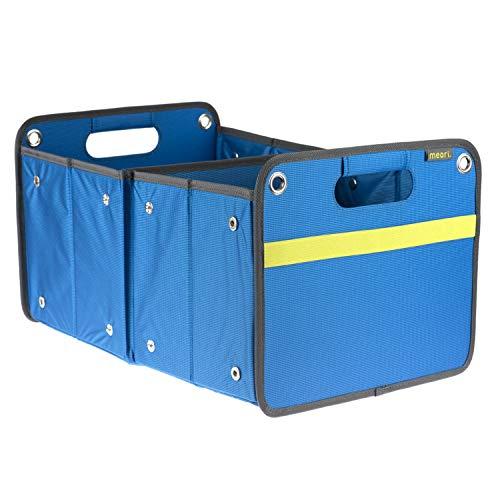 Faltbox Outdoor Mediterran Blau / Uni 32x50x27,5cm stabil abwischbar schmutzabweisend Polyester Picknick Natur Baggersee Boot Segeln Yachthafen mit Griffen Freizeit
