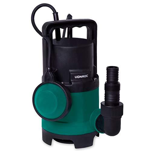 VONROC Bomba sumergible VONROC - Bomba para agua sucia - Bomba de agua - 400W - 8000l/h - Para agua sucia y limpia - Con interruptor de flotador