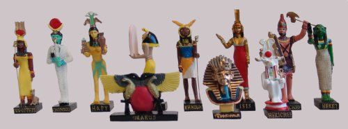 Ancient Egypt Egyptian God set of 11 figurines resin statue size 5\