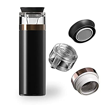 Stainless Steel Insulated Tea Mug with Infuser and Lid for Loose Tea 16.2 Ounces Office Home High-end Tea Cup