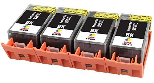 TONER EXPERTE® 4 XL Schwarz Druckerpatronen Ersatz für HP 920 920XL CD975AE kompatibel für HP Officejet 6000 6500 6500A 7000 7500A E609a E609n E709a E709n E710a E710n E809a E910a | hohe Kapazität