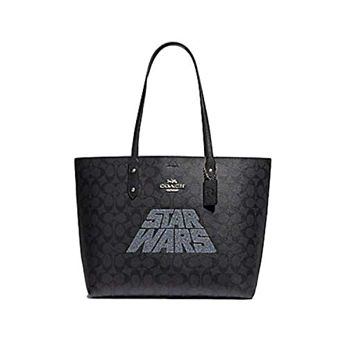 Star Wars X Coach Town Tote Handbag Shoulder Bag in Signature Canvas with Star Wars Motif F88019