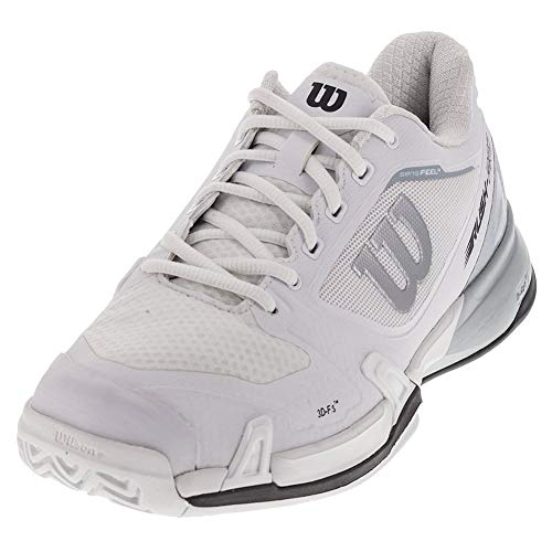 Wilson Men`s Rush Pro 2.5 Tennis Shoe, White/Pearl Blue/Iron Gate