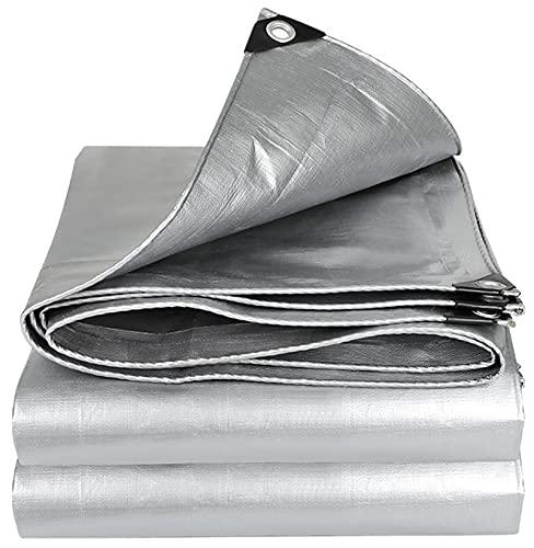 GZGLZDQ 0.32mm Lona PE Impermeable Lona De Muebles A Prueba De Lluvia Cubierta para La Hoja Acampada Sombrilla Jardín Tienda Hamaca Cubierta (Color : Silver, Tamaño : 1mx2m)