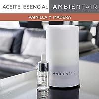 Ambientair. Aceite perfumado hidrosoluble 15ml. Aceite hidrosoluble Vainilla y Madera para humidificador de ultrasonidos. Perfume de Vainilla y Madera para ambientador de vapor de agua. Aceite perfumado sin alcohol.