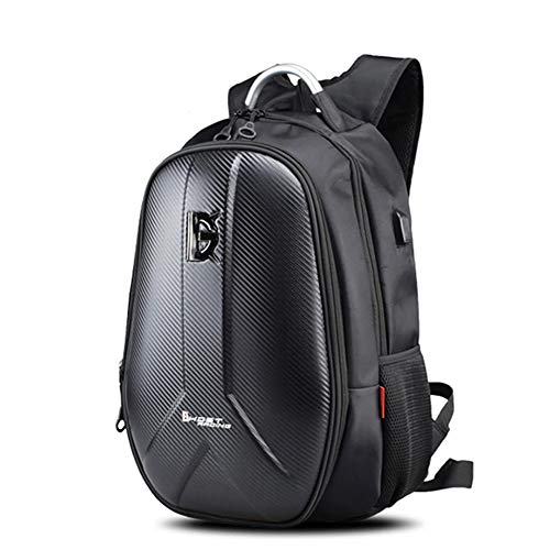 WQSFD Motorcycle Hard Shell Backpack High Capacity Motorbike Helmet Bag Can Store Full Face Helmets Waterproof Travel Storage Bag for Outdoor Travelling Camping Cycling