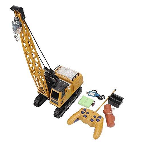 DYB Elektrischer Renn-Stuntwagen , Ferngesteuerter Lastwagen, 1:36 12-Kanal-Kranmodell, Konstruktionsfahrzeug, RC-Spielzeug, Simulations-Crawler-Modell, Rennsport-Hobbygeschenke für Kinder, Jungen