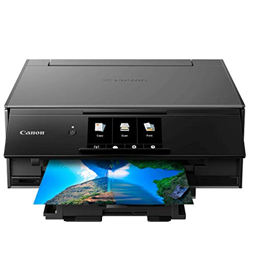 Canon TS9120 Wireless All-in-One Printer with Scanner and Copier: Mobile and Tablet Printing, with AirPrint and Google Cloud Print Compatible, Black, 14.2 x 14.7 x 5.6 Inches