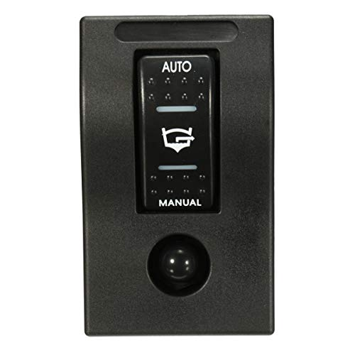 ILS - Interruptor de bomba de sentina 12 V LED doble panel interruptor manual Auto Off