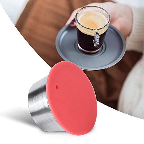 Kapsułka do kawy, ze stali nierdzewnej wielokrotnego użytku wielokrotnego użytku kubek na kapsułki kawy dopasowany do Dolce Gusto wysoka dokładność filtra ekspres do kawy łatwy do czyszczenia (czerwony)