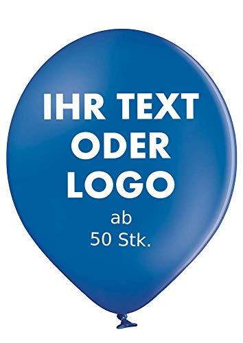 partydiscount24 Luftballons + Logo/Text - Deko   Ballondruck   Werbung - Ökologisch - Siebdruck, Farbe: Dunkelblau, Größe: 1000