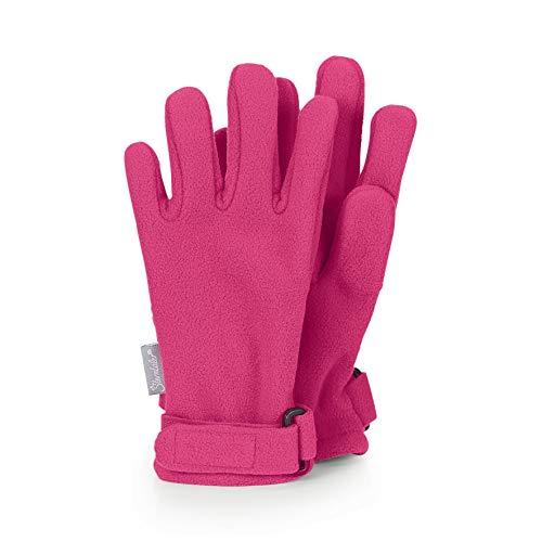 Sterntaler Fingerhandschuhe aus wasserabweisendem Microfleece mit Klettverschluss, Alter: 10-11 Jahre, Größe: 6, Magenta