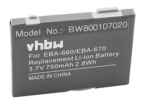 vhbw Akku kompatibel mit Siemens OpenStage M3 Handy Smartphone Handy (750mAh, 3,7V, Li-Ion)
