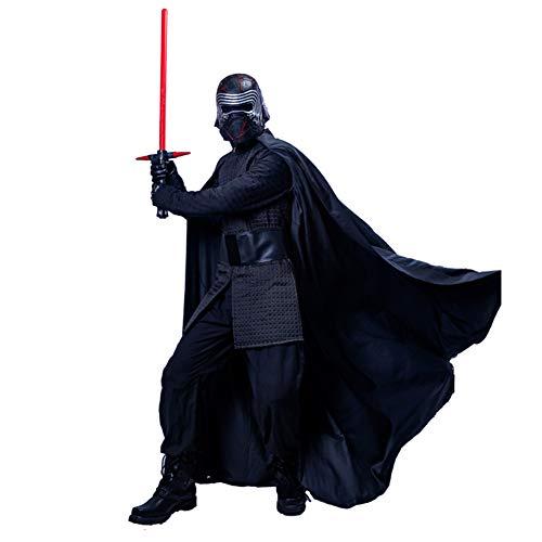 Mesky EU Kylo Kostüm Ben Solo Kostüm Black Series Kleidung Zubehör SW 9 Version PU-Film für Erwachsene Gr. Large, Schwarz