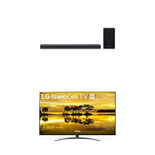 """LG 55SM9000PUA Alexa Built-in Nano 9 Series 55"""" 4K Ultra HD Smart LED NanoCell TV with LG SL8YG 3.1.2 Channel High Res Audio Sound Bar w/Meridian Technology, Dolby Atmos"""
