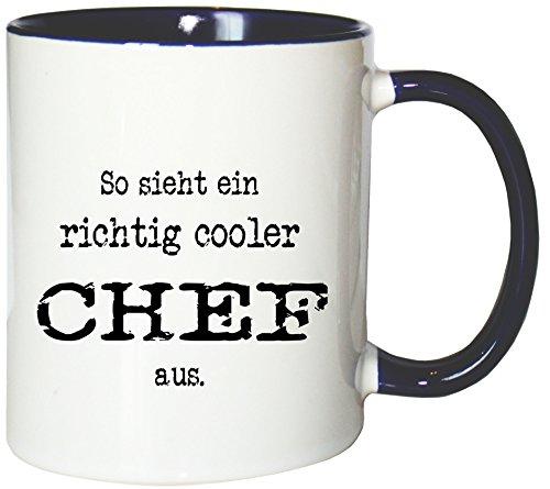 Mister Merchandise Kaffeetasse Becher So Sieht EIN richtig Cooler Chef