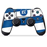 DeinDesign Skin kompatibel mit Sony Playstation 4 PS4 Controller Folie Sticker Wappen Karlsruher SC KSC