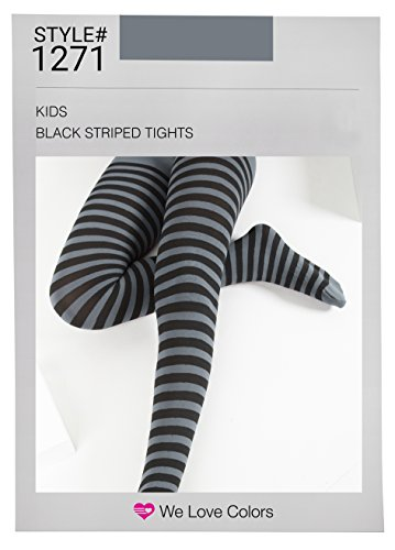 Kid's Black Striped Tights in 20 Color Combos and 4 sizes! - http://coolthings.us