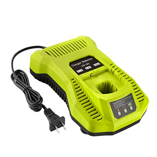 Energup Replacement Ryobi P117 Dual Chemistry Charger Li-ion & Ni-cad Ni-Mh Battery Charger 12V 18V MAX for Ryobi One+ Plus Battery P100 P102 P103 P105 P107 P108 1400670 P117 P118 Ryobi Charger