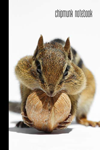 Chipmunk Notebook: small lined Chipmunk Notebook / Travel Journal to write in (6'' x 9'') 120 pages