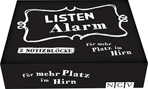 Listenalarm - Die Zettelbox für mehr Platz im Gehirn: 5 cool gestaltete Notizblöcke mit je 60 Blatt