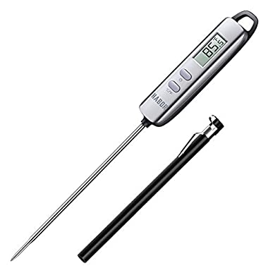Habor Meat Thermometer, Instant Read Thermometer Digital Cooking Thermometer, Candy Thermometer with Super Long Probe for Kitchen BBQ Grill Smoker Meat Oil Milk Yogurt Temperature