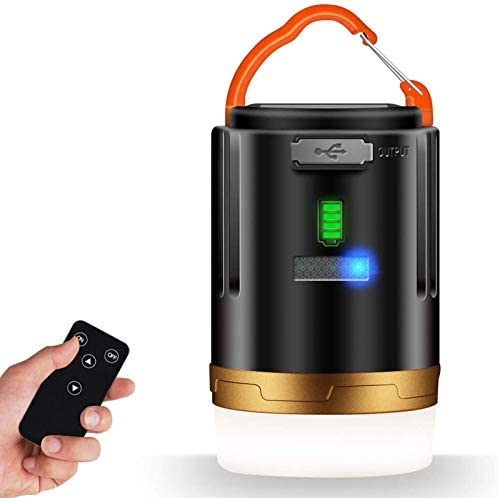 LED Camping Lantern 2 1 USB Rechargeable Camping Light with Remote Control 4800mAh Power Bank product image