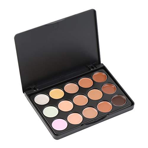 Lot de 2 correcteurs de teint 15 couleurs pour le visage et la crème - Correcteur de teint - Outils de beauté pour le visage.