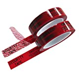 2 Rolls 100% Total Transfer Tamper Proof Security Void Tapes (1 in x 55 yrds x 2 mil, Ultra-Thick Void Film, Red - TamperSTOP)