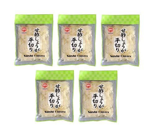 Pamai Pai® Bigpack: 5 x 120g Eingelegter Sushi Ingwer Weiß Amazu Shoga - 60g Abtropfgewicht