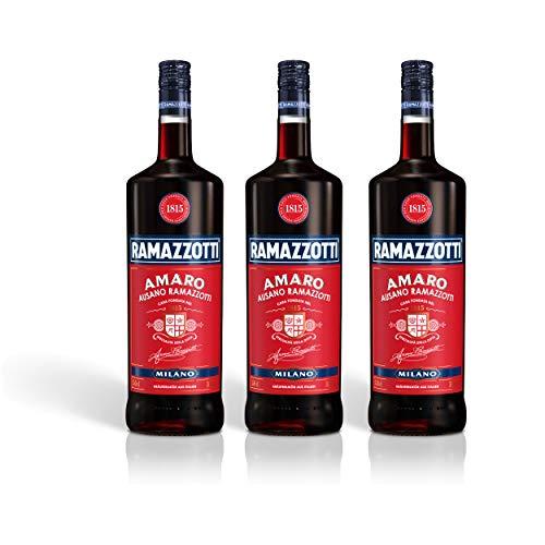 Ramazzotti Amaro Kräuterlikör 3er Set, Schnaps, Spirituose, Italienischer Likör, Alkohol, Flasche, 30%, 3 x 1.5 L