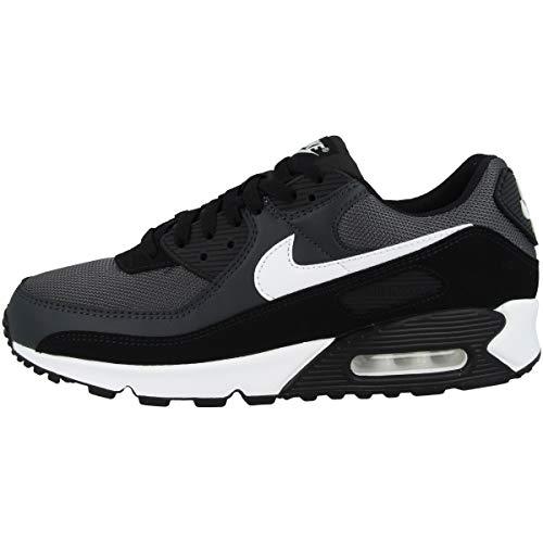 Nike Herren AIR MAX 90 Running Shoe, Iron Grey/White-DK Smoke Grey-Black, 45 EU