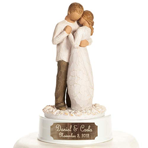 Personalized Engraved Willow Tree 'Promise' Wedding Cake Topper By Wedding Collectibles 1046189