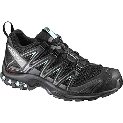 Salomon XA Pro 3D W Zapatillas de trail running Mujer, Negro (Black/Magnet/Fair Aqua), 42 EU (8 UK)