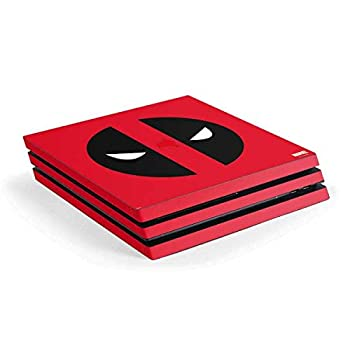 Skinit Decal Gaming Skin Compatible with PS4 Pro Console - Officially Licensed Marvel/Disney Deadpool Logo Red Design