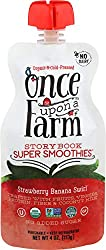 Once Upon A Farm, Strawberry Banana Swirl Storybook Organic Smoothies, 4 Ounce
