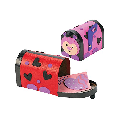 Lady Bug Valentine Mailbox Craft Kit - Crafts for Kids and Fun Home Activities